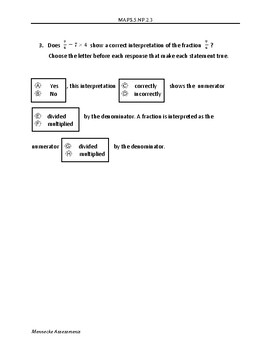 MAFS.5.NF.2.3 - 10 Question Assessment (multiple DOK's and FSA item types)