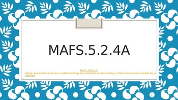 MAFS.5.NF.2.4a - 3 Days Ppt with homework - with learning targets