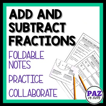 MAFS Adding and Subtracting Fractions - Fifth Grade