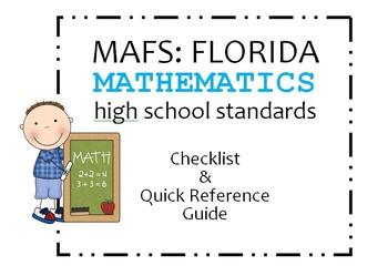MAFS: FL Mathematics High School Standards Checklist and Q