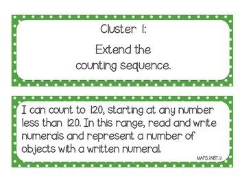 "MAFS ""I Can"" Statement Cards Polka-Dots (*NEW* Mathematics Florida Standards)"