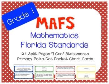 "MAFS ""I Can"" Statement Cards Polka-Dots (*NEW* Mathematics"