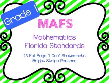 "MAFS ""I Can"" Statements Stripes {NEW Mathematics Florida Standards}"