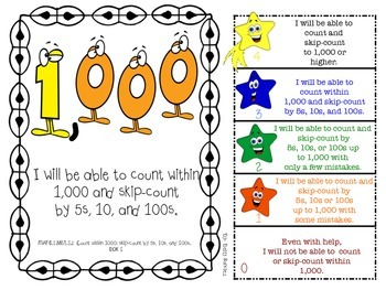 MAFS I WILL BE ABLE TO format Second Grade MATH Goals & 2 Sets of Rubrics