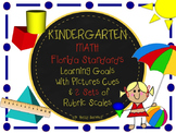 MAFS FLA KINDERGARTEN Math Learning Goals with 2 SETS of R