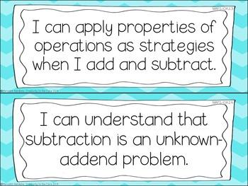 MAFS - Math Florida Standards {1st Grade - Turquoise Chevron}