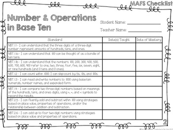 MAFS - Math Florida Standards {2nd Grade - Rainbow Stripe}