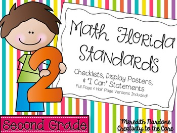 MAFS - Math Florida Standards {2nd Grade - Rainbow Stripe}