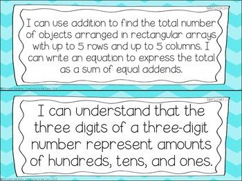 MAFS - Math Florida Standards {2nd Grade - Turquoise Chevron}