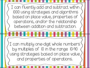 MAFS - Math Florida Standards {3rd Grade - Rainbow Stripe}