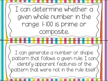 MAFS - Math Florida Standards {4th Grade - Rainbow Stripe}
