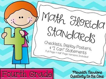 MAFS - Math Florida Standards {4th Grade - Turquoise Chevron}