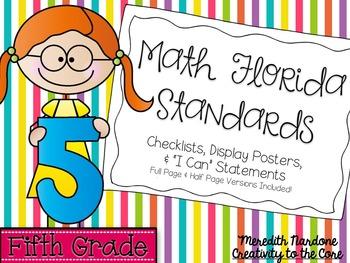 MAFS - Math Florida Standards {5th Grade - Rainbow Stripe}