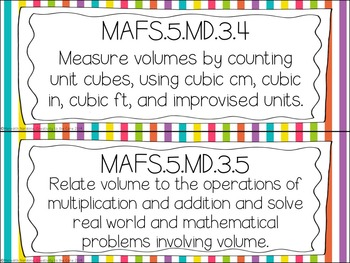 MAFS - Math Florida Standards {5th Grade - Rainbow Stripe}