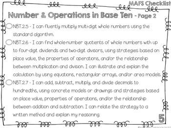 MAFS - Math Florida Standards {5th Grade - Turquoise Chevron}