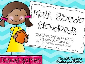 MAFS - Math Florida Standards {Kindergarten - Turquoise Chevron}