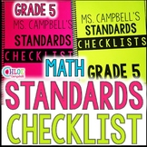5th Grade Standards Checklist: Math Florida Standards (MAFS)
