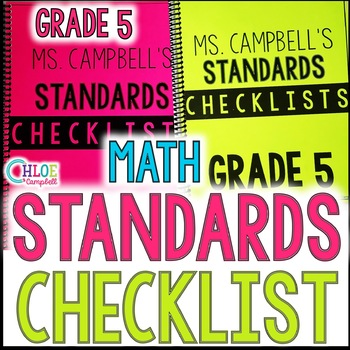 MAFS- Math Florida State Standards Checklist 5th Grade