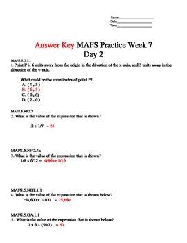 MAFS Math Practice week 6-10