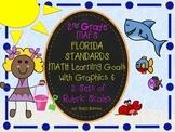 MAFS FLA SECOND GRADE Math Learning Goals with 2 SETS of RUBRICS & DOK Levels