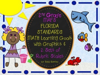 MAFS FLA SECOND GRADE Math Learning Goals with 2 SETS of RUBRICS & DOK Levels