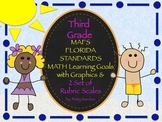 MAFS FLA THIRD GRADE Math Learning Goals with 2 SETS of RUBRICS & DOK Levels