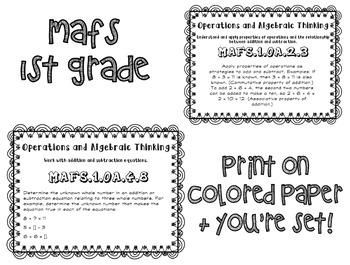 MAFS posters - 1st grade