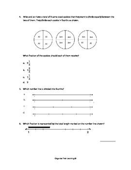 Mini Assessment- MAFS.3.NF.1.2, MAFS.3.NF.1.1 (Florida Standards)