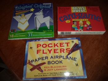 MAG ORIGAMI,FLYERS  BRAIN QUEST     (SET OF 3)
