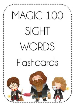 MAGIC 100 Words - FLASH CARDS - Black and White