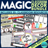 MAGIC THEME Classroom Decor EDITABLE