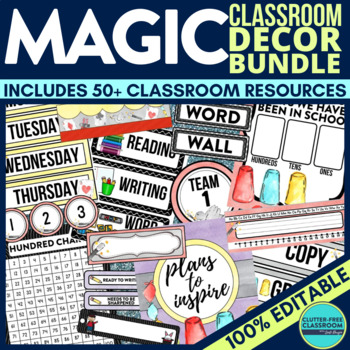 MAGIC THEME Classroom Decor EDITABLE