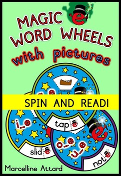 LONG VOWELS: MAGIC E WORD WHEELS: PHONICS READING ACTIVITIES: CVCE PRINTABLES