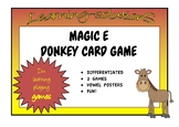 MAGIC e - 2 DONKEY Card Games - Differentiated + Magic e POSTERS