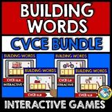 MAGIC E ACTIVITY (BUILDING CVCE WORDS BOOM CARDS 1ST GRADE) LONG VOWELS SILENT E