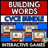 MAGIC E ACTIVITY (BUILDING CVCE WORDS BOOM CARDS 1ST GRADE) LONG VOWELS SILENT E