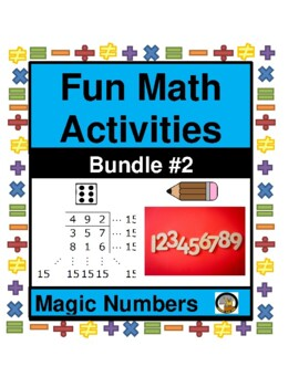 MATH- FUN ACTIVITY-MAGIC NUMBERS BUNDLE  2 (UNIT 2; #5-8)- MATH- NO PREP
