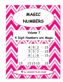 MATH- FUN ACTIVITY-MAGIC NUMBERS VOLUME 7- MATH- NO PREP