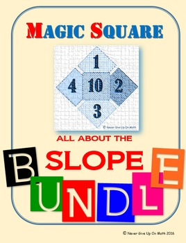 MAGIC SQUARE - BUNDLE Find the Slope (6 products)