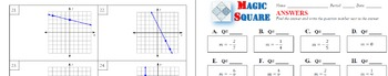FREEBIE MAGIC SQUARE - Find the slope from graphs