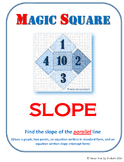 MAGIC SQUARE - Find the slope of parallel lines (graph, points, & equations)