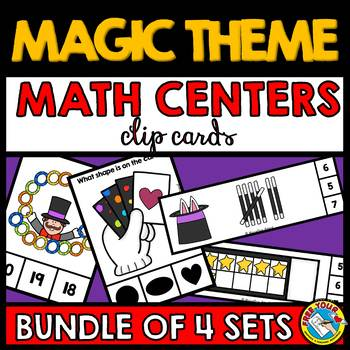 MAGIC THEME MATH CENTERS BUNDLE (PRE K + KINDERGARTEN MAGI