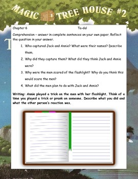 MAGIC TREE HOUSE #2 The Knight at Dawn ELA Novel Study Guide
