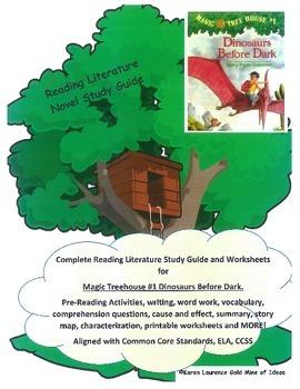MAGIC TREE HOUSE #1 Dinosaurs Before Dark Reading Novel ELA Study Guide