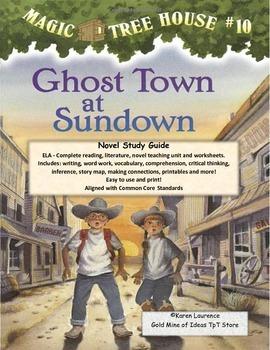 MAGIC TREE HOUSE #10 Ghost Town at Sundown Reading Novel E
