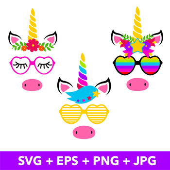 MAGIC UNICORN FACES PACK
