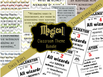 Harry Potter INSPIRED Classroom Decor Pack