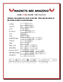 MAGNETS ARE AMAZING: A SCIENCE VOCABULARY JUMBLE  PUZZLE