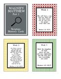 Magnifiers: Matthew Part 1 Scripture Memory Cards