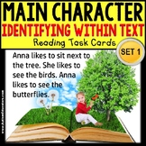 """MAIN CHARACTER IN TEXT Task Cards """"Task Box Filler"""" for Autism"""